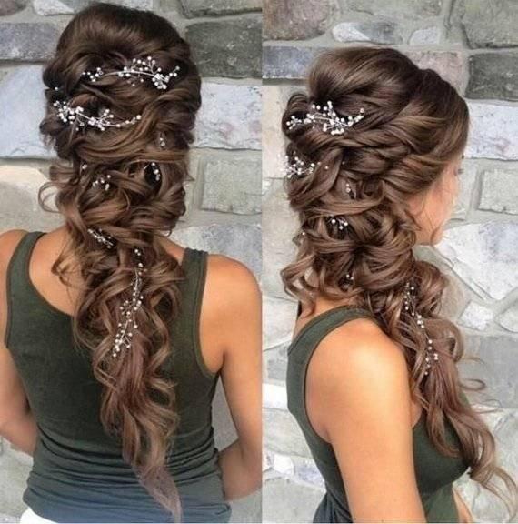 Crystal Handmade Long Bridal Tiara